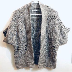 Loose Weave Crochet Short Sleeve Sweater